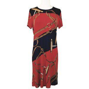 Ralph Lauren Silk Equestrian Print Dress